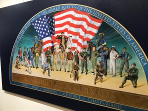 A mural by Dean Mosher honors America's and Alabama's veterans. (Dan Bynum/Alabama NewsCenter)