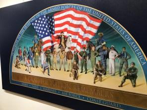 A mural by Dean Mosher honors America's and Alabama's veterans. (Dan Bynum/Alabama NewsCenter)
