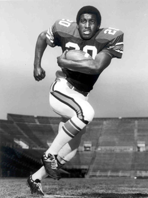 Lamar County native Joe Cribbs (1958- ) played for the Auburn University football team from 1976-79 and later played professionally until his retirement in 1988. Cribbs is Auburn's fourth-leading rusher and was named to the Pro Bowl three times. (From Encyclopedia of Alabama, courtesy of Auburn University Athletic Department, Media Relations)