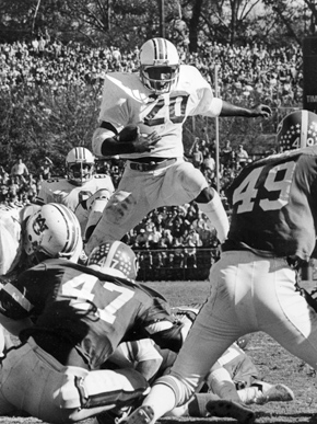 Auburn University football star Joe Cribbs during the team's 1979 game against the University of Georgia in Athens, Georgia. The Auburn-Georgia rivalry is known as the oldest in the Deep South. (From Encyclopedia of Alabama, courtesy of Auburn University Special Collections)