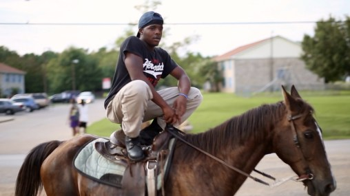 "Willie on a Horse from ""Hale County This Morning, This Evening."" (Copyright IDIOM Film, Courtesy RaMell Ross & Cinema Guild)"