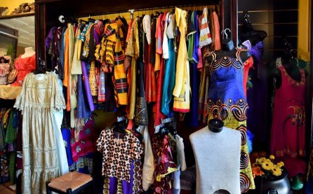 African clothing is displayed at Ferrill African Wear in the 4th Avenue District. (Mark Almond)