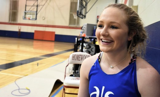 Cold Springs senior Camryn Crider says she and her teammates have long worked hard on their 3-point shooting. (Solomon Crenshaw Jr. / Alabama NewsCenter)