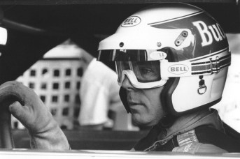 Darrell Waltrip prepares for a race at Talladega. He became the first repeat winner of the Talladega 500 in 1982. (ISC Images & Archives via Getty Images)