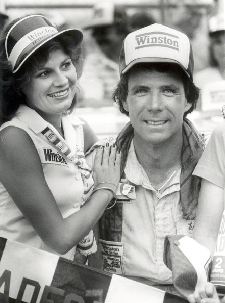 Darrell Waltrip celebrates another victory at the Talladega 500. Waltrip would take home $55,770 for the race. (Photo by Racing Photo Archives/Getty Images)