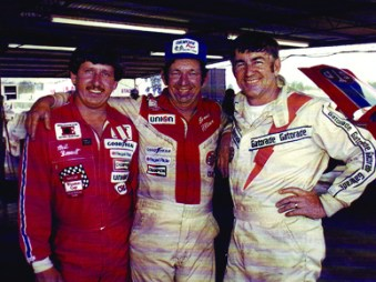 Alabama Gang members Neil Bonnett, Donnie Allison and Bobby Allison. (Encyclopedia of Alabama, courtesy of the Alabama Sports Hall of Fame)