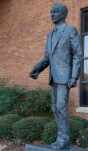 Statue of the Rev. Fred Shuttlesworth, former civil rights activist, Birmingham, 2010. (The George F. Landegger Collection of Alabama Photographs in Carol M. Highsmith's America, Library of Congress, Prints and Photographs Division)