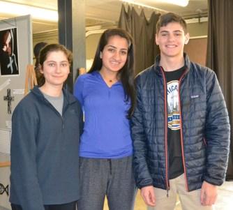 Amrita Lakhanpal, center, with fellow photography students. (Karim Shamsi-Basha/Alabama NewsCenter)