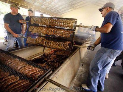 Farm Fresh Meats provided delicious food. (Elberta Sausage Festival)