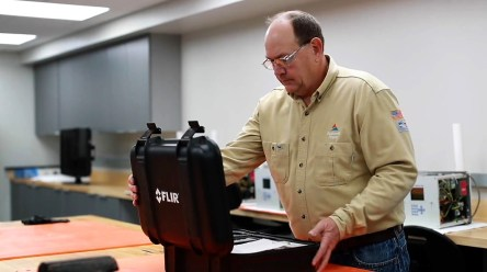 Lyn Cost is one of the unsung heroes at Alabama Power who keeps the system operating by preventing equipment failures. (Joe Allen / Alabama NewsCenter)