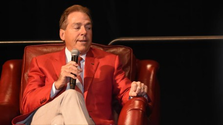University of Alabama Head Football Coach Nick Saban talks about life, discipline, goals, football and values at the American Values Luncheon hosted by the Boy Scouts of America Greater Alabama Council. (Solomon Crenshaw Jr./Alabama NewsCenter)