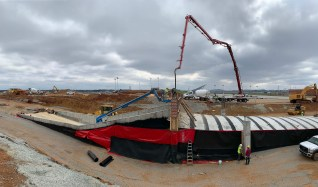 A new oversized two-lane tunnel under construction at Talladega Superspeedway. (Talladega Superspeedway)