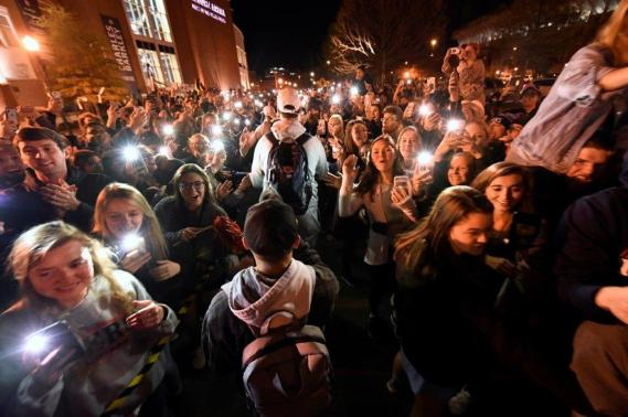Auburn men's basketball team returns home after advancing to the Final Four for the first time in program history. (Todd Van Emst/AU Athletics)