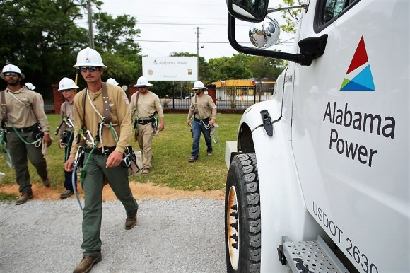 Bishop State Community College and Alabama Power signed an agreement for a lineman training program. (Mike Kittrell / Alabama NewsCenter)