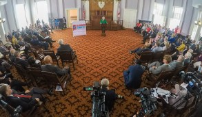More than 200 elected and local officials joined Alabama Gov. Kay Ivey to kick off the Alabama Counts 2020 census initiative. (Governor's Office)