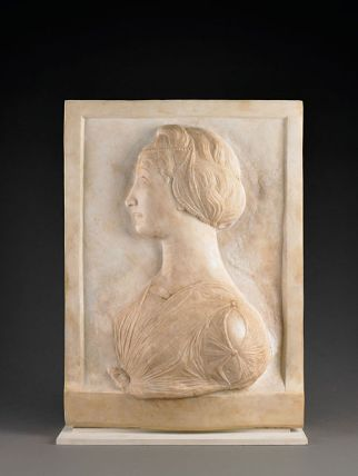 Profile of a Young Women by Mino da Fiesole, c. 1455-1460. (Sean Pathasema, Birmingham Museum of Art, Wikipedia)