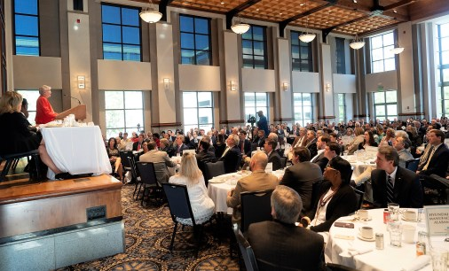"Governor Kay Ivey delivered a ""State of the State"" address at the Montgomery Area Chamber of Commerce breakfast. (Governor's Office/Hal Yeager)"