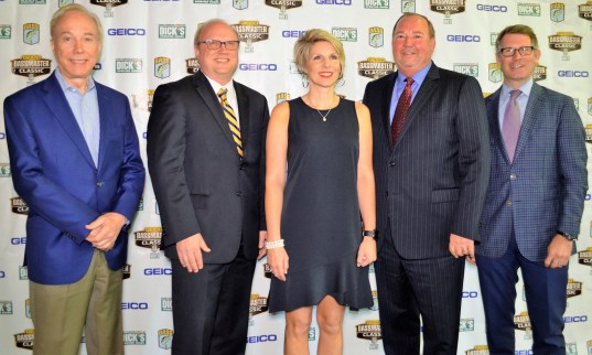 Officials announce the 50th Bassmaster Classic will be held at Lake Guntersville and at Birmingham. (Michael Tomberlin / Alabama NewsCenter)