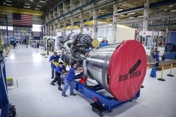 Blue Origin's BE-4 rocket engine will be manufactured in Huntsville, not far away from the United Launch Alliance's rocket plant in Decatur. (Blue Origin)