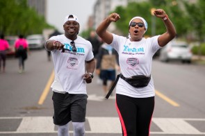 Employees of a wide range of companies competed in 15 events in the Chick-fil-A Corporate Challenge. Many of the events were at Railroad Park in Birmingham. (Chris Jones/Alabama NewsCenter)