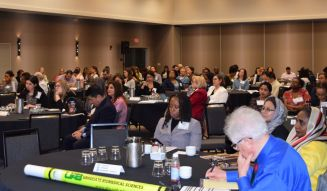 Researchers took in knowledge from numerous health studies during the UAB symposium. (Donna Cope/Alabama NewsCenter)