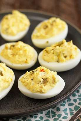 """A dash of pepper """"fances up' these eggs and enlivens flavor. (Stacey Little)"""