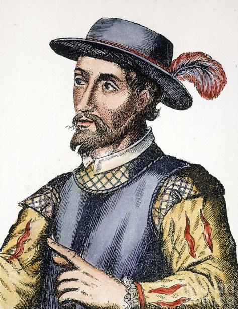 Portrait of Juan Ponce de León, 17th century engraving. (Wikipedia)