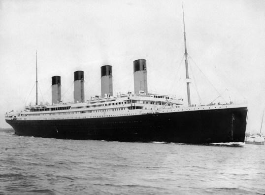RMS Titanic departing Southampton on April 10, 1912. (Wikipedia)