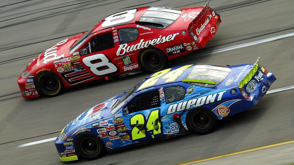 Icons Gordon, Earnhardt Jr. rule the 2000s at Talladega Superspeedway