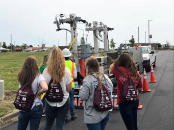 Students got hands-on exposure to potential careers at Central AlabamaWorks' Career Discovery in Montgomery. Companies like Alabama Power presented the variety of job opportunities within the company. (Michael Jordan / Alabama NewsCenter)