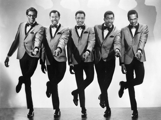 The classic lineup of The Temptations in the 1960s consisted of (l-r) David Ruffin, Otis Williams, Paul Williams, Melvin Franklin and Eddie Kendricks. (From Encyclopedia of Alabama, photo courtesy of the Alabama Music Hall of Fame)