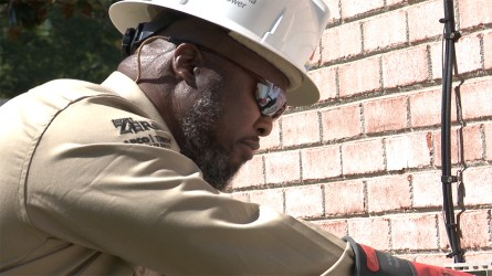 Broderick Smith serves Alabama Power customers as a field service representative in the Montgomery Business Office. (Dennis Washington / Alabama NewsCenter)