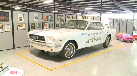 The Ford Mustang served as the pace car in three Indianapolis 500 races. (Dennis Washington / Alabama NewsCenter)