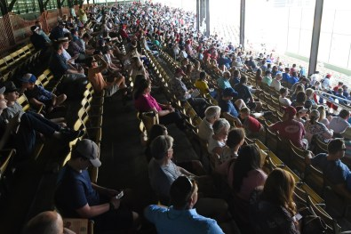 Fans in the leftfield seats at the Rickwood Classic. (Solomon Crenshaw Jr./Alabama NewsCenter)