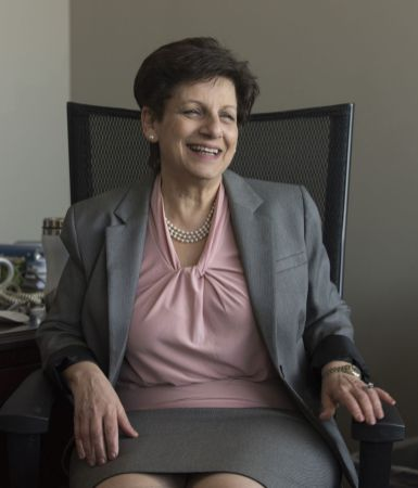 Fouad in her UAB office. (Bernard Troncale)
