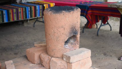 A smokeless cookstove can make a big difference in the health of an indigenous family. (Karim Shamsi-Basha/Alabama NewsCenter)