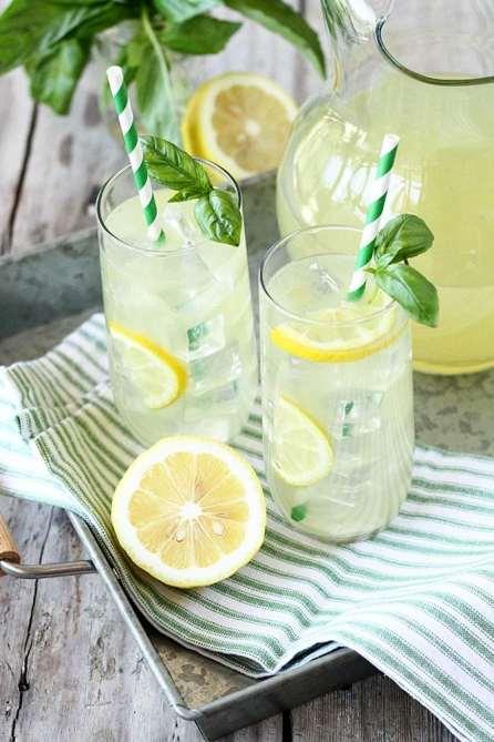 "Make Basil Lemonade your ""go to"" beverage for the summer. (Southern Bite)"