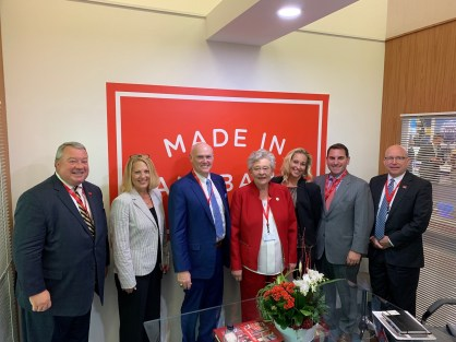 The Alabama team met with ULA CEO Tory Bruno and other company officials today at the 2019 Paris Air Show. (contributed)