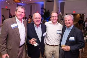 Whit Armstrong, second from left, served nearly 37 years on the Alabama Power board of directors. (Nik Layman / Alabama NewsCenter)