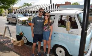 Josh and Kelsey Sizemore started Wild Honey Flower Truck in November and the business is blooming in Birmingham. (Michael Tomberlin / Alabama NewsCenter)