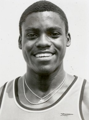 Birmingham native and nine-time Olympic gold medal winner Carl Lewis is pictured during his days as a track and field star at the University of Houston, ca. 1980. (From Encyclopedia of Alabama, courtesy of Special Collections, University of Houston Libraries. UH Digital Library)
