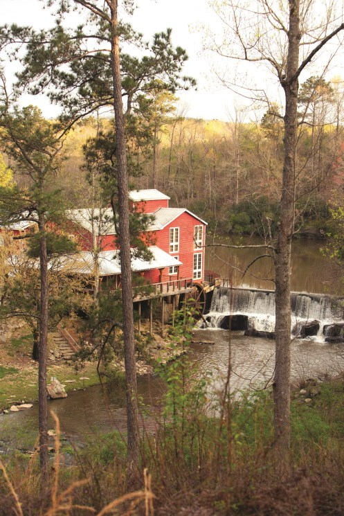 The grist mill now known as Yellowleaf Creek Mill operated for more than 130 years before shutting down in 1990. It was in rough shape by the time Birmingham businessman David Brogdon bought it in 2014 and restored it. (Meg McKinney/Powergrams)