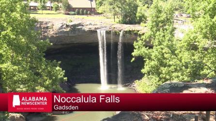 Noccalula Falls in Gadsden, Alabama (Dennis Washington/Alabama NewsCenter)