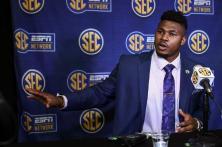 Prince Tega Wanogho at SEC Media Days. (Wade Rackley/AU Athletics)