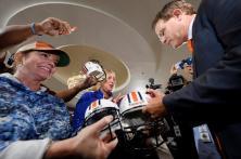Auburn coach Gus Malzahn at SEC Media Days. (Todd Van Ernst/AU Athletics)