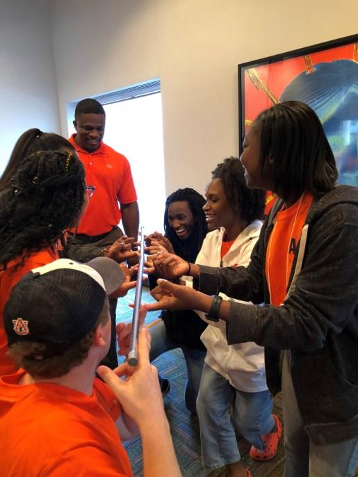 Incoming Auburn University freshmen explore engineering on a visit to Alabama Power as part of the STEM Summer Bridge Program. (Tyus Underwood/Alabama NewsCenter)