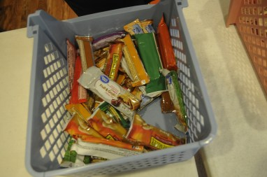Baskets full of food items are scattered throughout Jefferson County churches. (Karim Shamsi-Basha/Alabama NewsCenter)