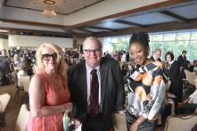 B-Metro creative director Robin Richeson Colter and editor Joe O'Donnell, along with stylist Jestina Howard attend the Positive Maturity gala. (Karim Shamsi-Basha / Alabama NewsCenter)
