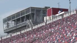 A new operations tower under construction at Talladega Superspeedway. (Dennis Washington / Alabama NewsCenter)