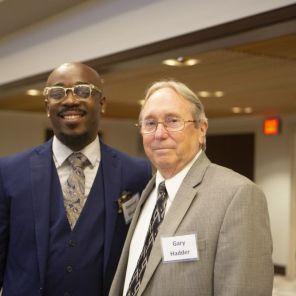 Raynard Woods (left), program graduate and Gary Hadder (right), ARP Coordinator. (Meg McKinney)